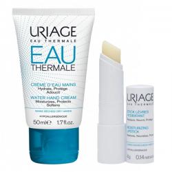 Uriage Water Hand Cream 50 ml + Moisturizing Lipstick 4 gr