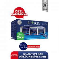 Bioxcin Quantum Şampuan 3al 2öde (Kuru-Normal Saçlar)