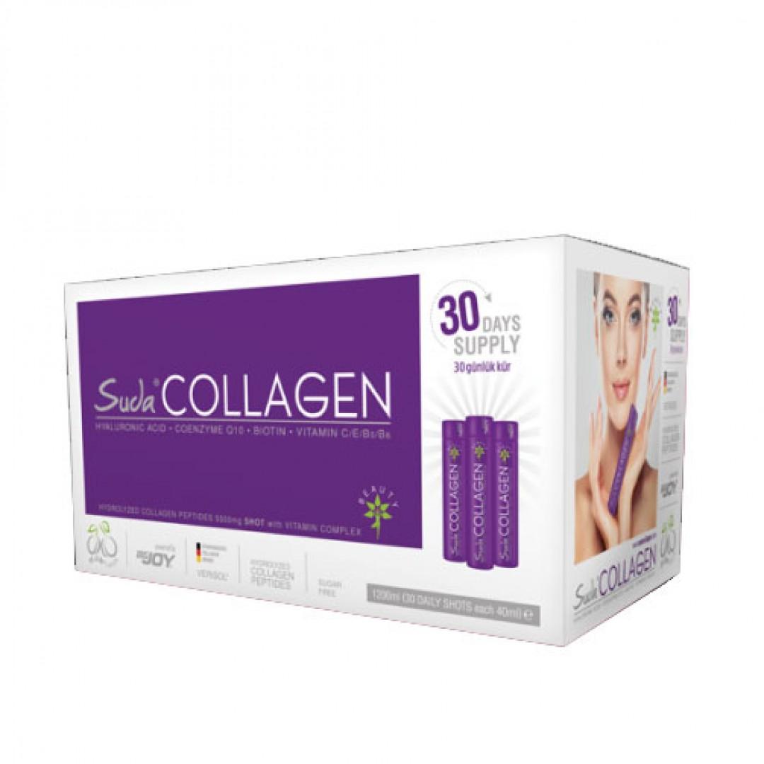 Suda Collagen İçime Hazır Sıvı 30x40 ml - Erik Aromalı - Kozmopol