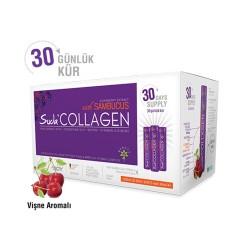 Suda Collagen Sambucus 30 x 40ml - Vişne Aromalı