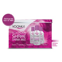 Voonka Collagen Shake Drink Mix 15x50 ml - Portakal Şeftali Aromalı