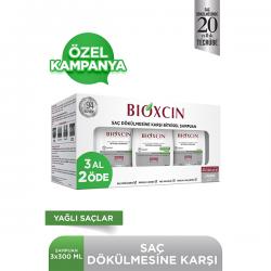 Bioxcin Genesis Şampuan 300ml x 3 Adet - Yağlı Saçlar