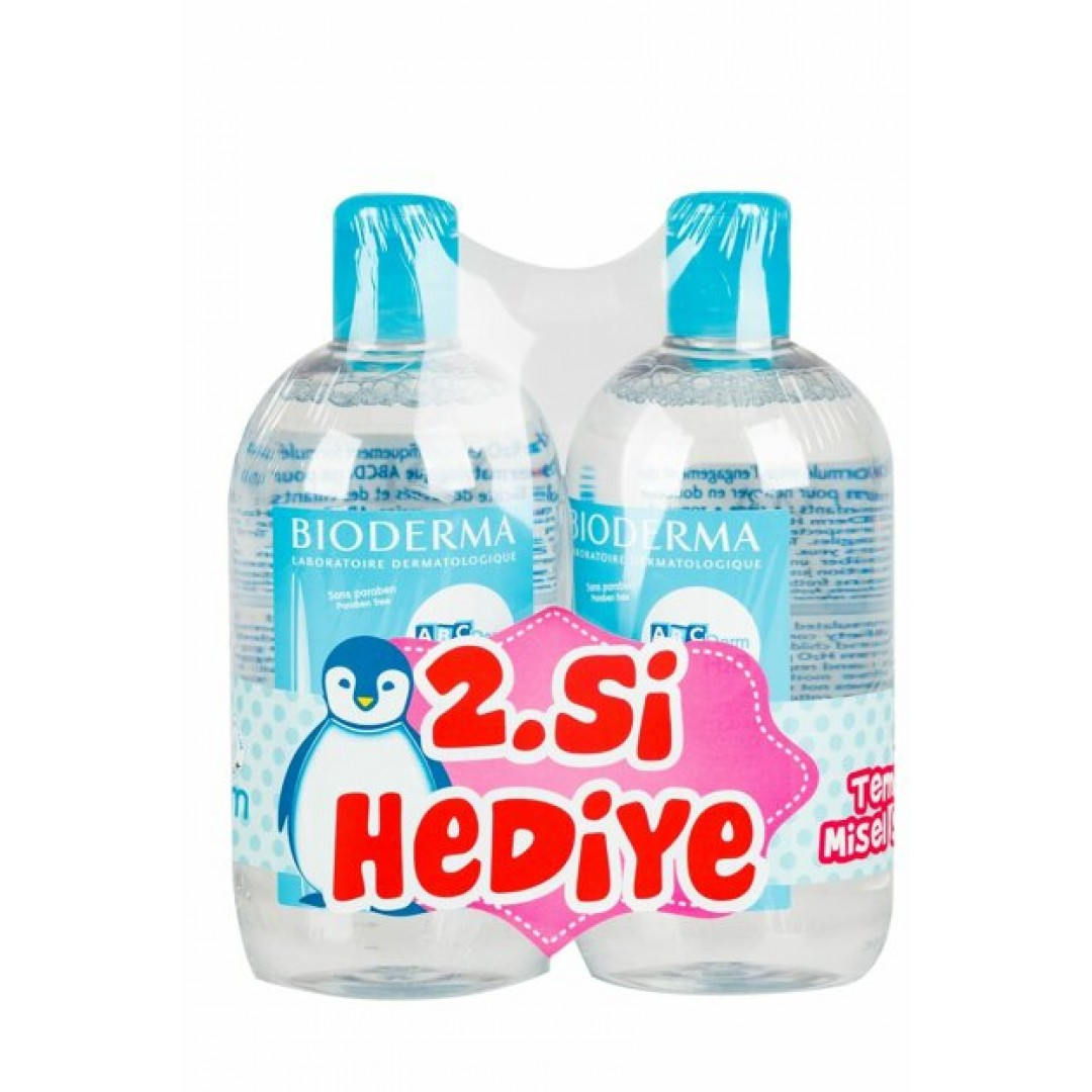 Bioderma Abcderm H2O 500 ml 2'li