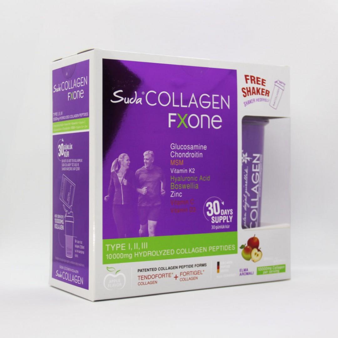 Suda Collagen Fxone Elma Aromalı 13 gr x 30 Gün ( Tip 1-2-3 10000mg Kolajen İçerir)