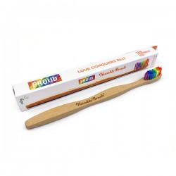 Humble Brush Yetişkin Orta Sertlikte Diş Fırçası - Gökkuşağı