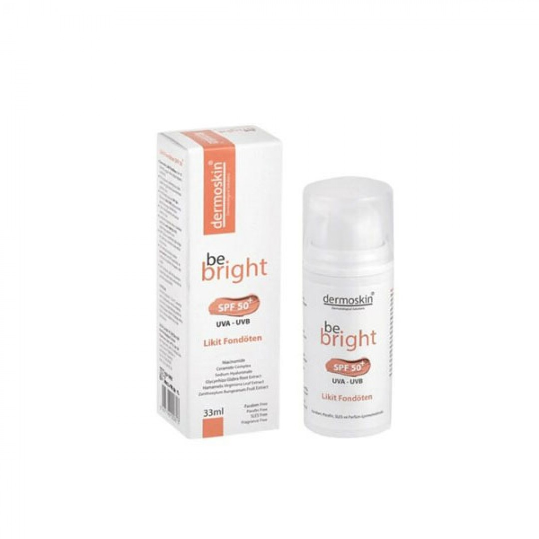 Dermoskin Be Bright Spf50+ Likit Fondöten 33ml - Light - Kozmopol
