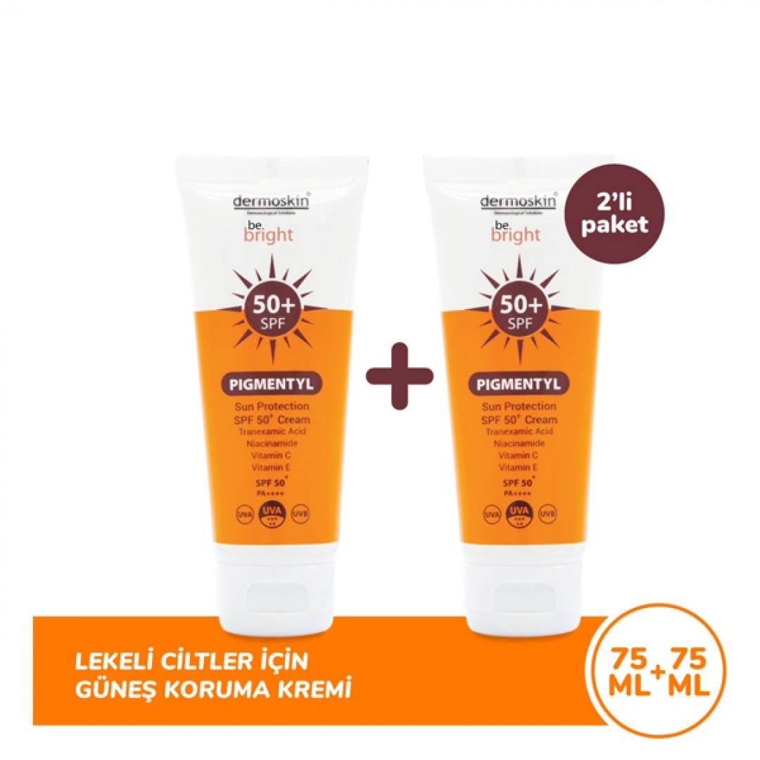 Dermoskin Be Bright Pigmentyl Sun Protection SPF 50+ 2x75 ml - Kozmopol