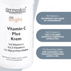 Dermoskin Be Bright Vitamin C Plus Krem 33 ml x 2 Adet